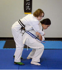 Kids jujitsu students